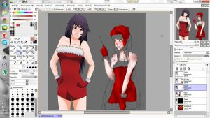 New Year's collab in the process ^^ by Swen-k