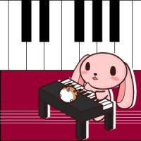 Piano rabbit by wachachai