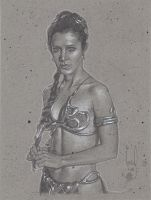 Princess Leia in Slave Outfit by JeffLafferty