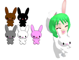 MMD-Bunnies DL by Shioku-990