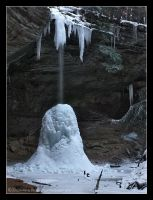 Ash Cave Frozen Fall by BuckNut