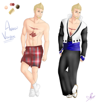 Fullbody Ref: Andrew Vargais by Merc-Wit-da-Mouth