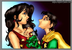 Donna Troy and Jason Todd by angel-gidget