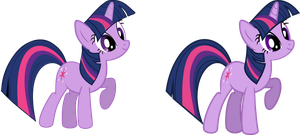 (Old vs New) Twilight Sparkle Vector by LMan225