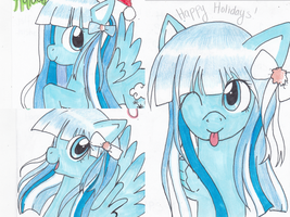 Pony Holiday Cards by CelestialBunny