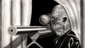 Iron Maiden - Eddie Sniper by BLueStormDragoN