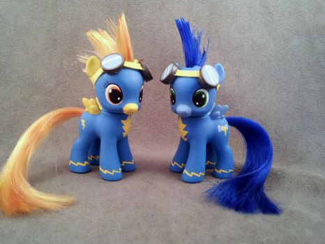 MLP: FiM - baby Spitfire and Soarin - customs by hannaliten