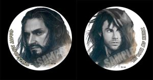 Thorin n Kili Pin button by Brilcrist