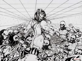 She-Hulk vs Robot Army by Alex Kmeto by akmeto