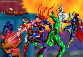 Kickin Marvel's Behinds by ssejllenrad2