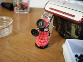 Beaded red dalek by vividfantasy7