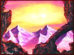 Sunset on Mount Doom by Villa-Chinchilla