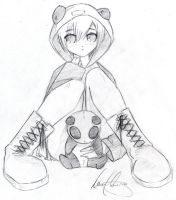 Panda Girl With Plushie by sppanda
