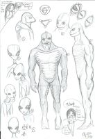 reptilian and other being sketch dump by CandiceShadow