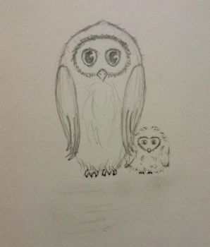 Owl and Owlet by ManorasFlame