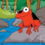 the bright red frog by striffle