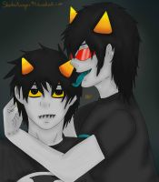 Just a Lick- Karkat and Terezi- Homestuck by ShadowAvenger94