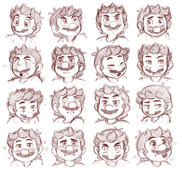 Mario expressions! by Rainmaker113