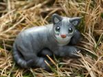 Max cat sculpture by SculpyPups