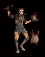 Day 9 - Gordon Freeman by Bridgelexe
