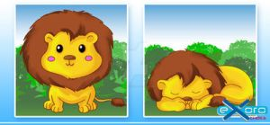 Exoro Designs Emoticons Set 02 Cute Lion by ExoroDesigns
