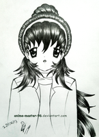 Hair Study from the Imagination (3) Front View by anime-master-96
