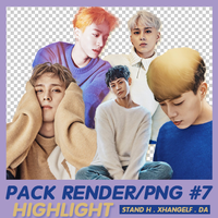 [PACK RENDER/PNG #7]  - 5 PNGs HIGHLIGHT by xhangelf