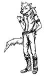 Scribbly Wolfrun by IncandescentInsanity
