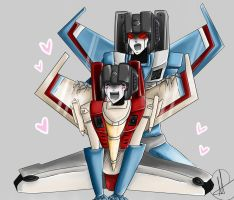 Starscream and TC by Deathrosesouls