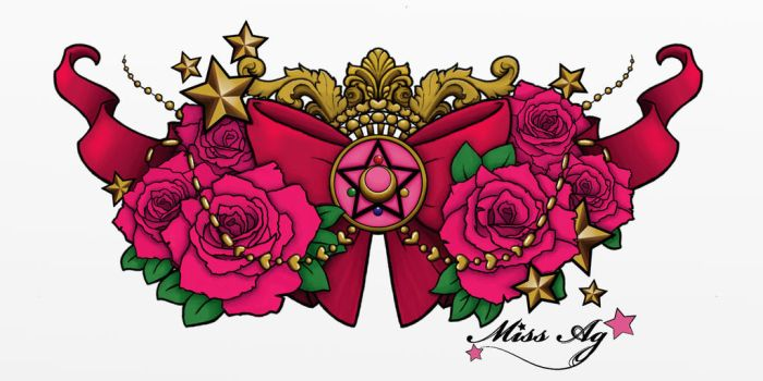 Sailor moon chestpiece **commission** color by Miss-Ag