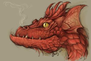 Smaug sketch by SceithAilm