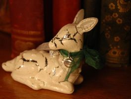 Silver Doe xmas ornament Snape by kittykat01