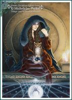 Tarot - Intuition -  Card 18 by ravynnephelan