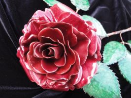 new enameled red rose by knivesandroses