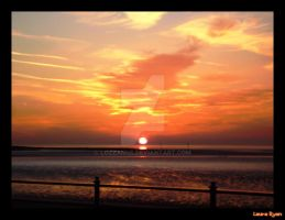 Sunset at Morecambe Bay by Lozzanne