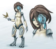 Sentient Android concept by hirurux