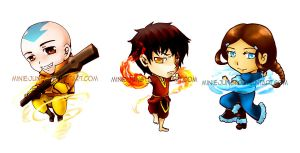 avatar chibis by miniejungie