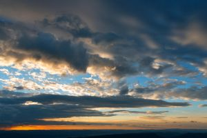 Vibrant Sunrise Cloudscape by somadjinn