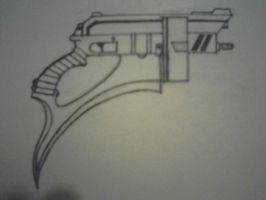 Custom Bladed Revolver by Ultima-Eve
