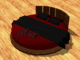 Round Bed - Black/Red [XPS] by LexaKiness