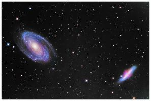 Bode's Galaxy And The Cigar by Captain-Marmote