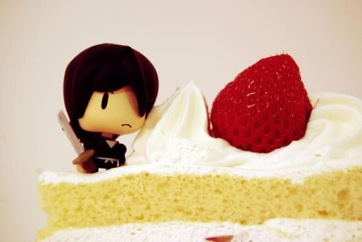 rukia on the top of acake by cieri