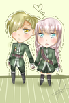 Chibis Couple ~ by AkaMikaa