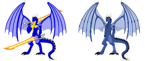 Dragon Form Before and After by Vakama3