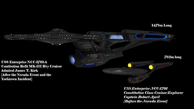 USS Enterprise NCC-1701 Prime and Kelvin by Marksman104