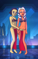 Barriss Offee and Ahsoka Tano - Undercover mission by VaultMan