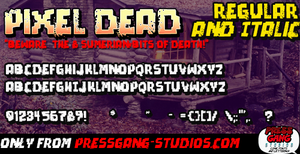 Pixel Dead font by andehpinkard
