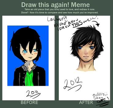 Draw This Again Meme (LEZOMG!!) by TheUnknownStrangers