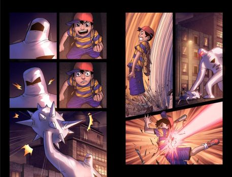 Earthbound pgs. 03 and 04 by Fernosaur