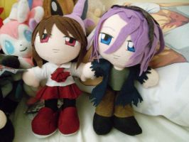 Ib and Garry plushies by K-chanLovesAnimeXD